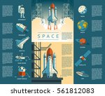 large collection icons of space | Shutterstock .eps vector #561812083