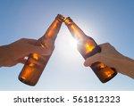 cheers to beer  | Shutterstock . vector #561812323