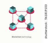blockchain technology concept.... | Shutterstock .eps vector #561819103