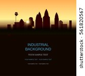industrial landscape. vector... | Shutterstock .eps vector #561820567