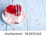 Heart Cake Dessert With...