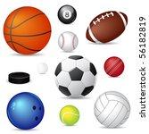 sport balls | Shutterstock . vector #56182819