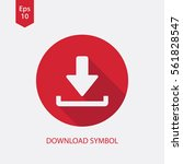 download icon. simple flat...   Shutterstock .eps vector #561828547