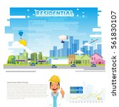 residence concept. city...   Shutterstock .eps vector #561830107