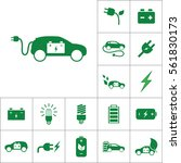 electric car icon  alternative... | Shutterstock .eps vector #561830173