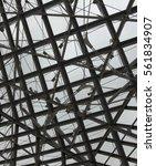 framework of metal girders with ... | Shutterstock . vector #561834907