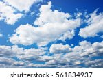 big amount of clouds on the... | Shutterstock . vector #561834937