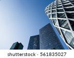 skyscrapers with glass facade.... | Shutterstock . vector #561835027