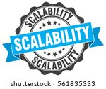 scalability. stamp. sticker.... | Shutterstock .eps vector #561835333
