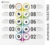 timeline infographics template. ... | Shutterstock .eps vector #561837883