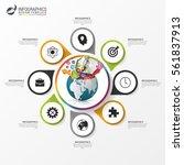 circular infographics. business ... | Shutterstock .eps vector #561837913