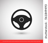 steering wheel icon. one of set ... | Shutterstock .eps vector #561849493