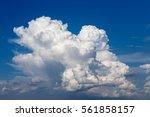 Big White Cloud On Blue Sky....