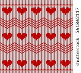 valentine day red knitted... | Shutterstock .eps vector #561862117