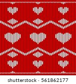 valentine day red knitted... | Shutterstock .eps vector #561862177