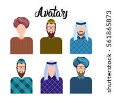 arab man  muslim arabic male... | Shutterstock .eps vector #561865873