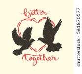 hand drawn vector illustration... | Shutterstock .eps vector #561870577