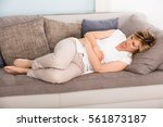 close up of young woman having... | Shutterstock . vector #561873187