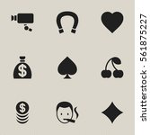 set of 9 editable game icons....
