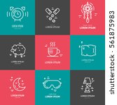 collection of line vector icons ... | Shutterstock .eps vector #561875983