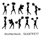 cheerleader dancers figure... | Shutterstock .eps vector #561879577
