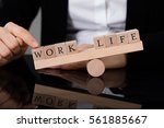 close up of a person showing... | Shutterstock . vector #561885667