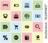 set of 16 shopping icons....