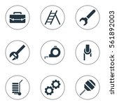 set of 9 instrument icons....