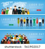 people of different occupations.... | Shutterstock .eps vector #561902017