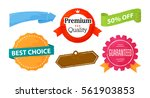 set of sale and advertistment... | Shutterstock .eps vector #561903853