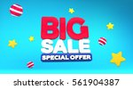 sale discount banner design for ... | Shutterstock .eps vector #561904387