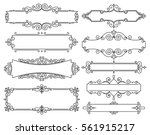 vector trendy linear frame with ... | Shutterstock .eps vector #561915217