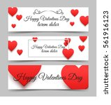 happy valentines day banners... | Shutterstock .eps vector #561916123
