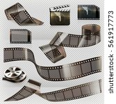 old film strip with... | Shutterstock .eps vector #561917773