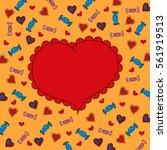 hand drawn heart on a... | Shutterstock .eps vector #561919513