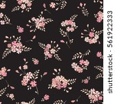 seamless floral background with ... | Shutterstock .eps vector #561922333