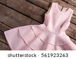 light salmon dress with folds