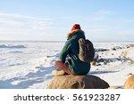 meditation concept. man have... | Shutterstock . vector #561923287