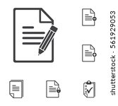note with pen icon on the white ... | Shutterstock .eps vector #561929053
