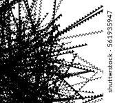 random edgy  zigzag  lines... | Shutterstock .eps vector #561935947