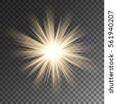 sparkling sun rays burst star...   Shutterstock .eps vector #561940207
