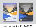 poster flyer pamphlet brochure... | Shutterstock .eps vector #561942373
