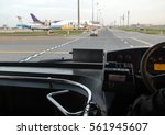 the view through the windshield ... | Shutterstock . vector #561945607