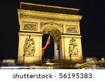 arc in paris arc de triumph... | Shutterstock . vector #56195383
