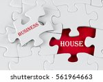 white puzzle with void in the...   Shutterstock . vector #561964663