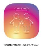 happy kids icon in trendy flat... | Shutterstock .eps vector #561975967