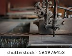 old gas cutter for cutting... | Shutterstock . vector #561976453