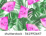 Watermelons  Tropical Palm...