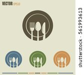 vector illustration sign with... | Shutterstock .eps vector #561993613