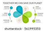 vector circle arrows green... | Shutterstock .eps vector #561995353